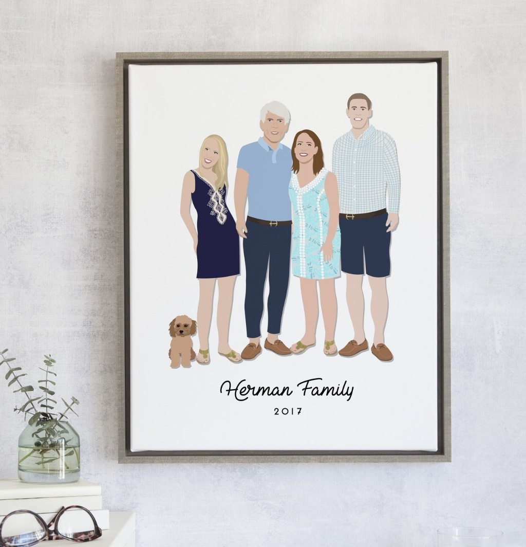 Mother's Day is almost here, and what mom doesn't LOVE a family portrait?? Get your mother the perfect family illustration created