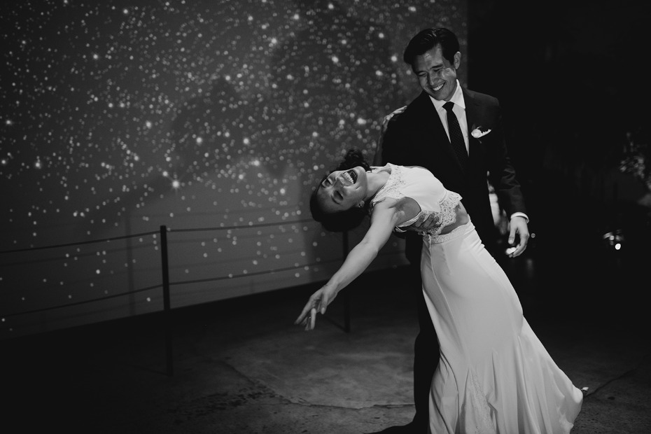 First dance in front a star screen