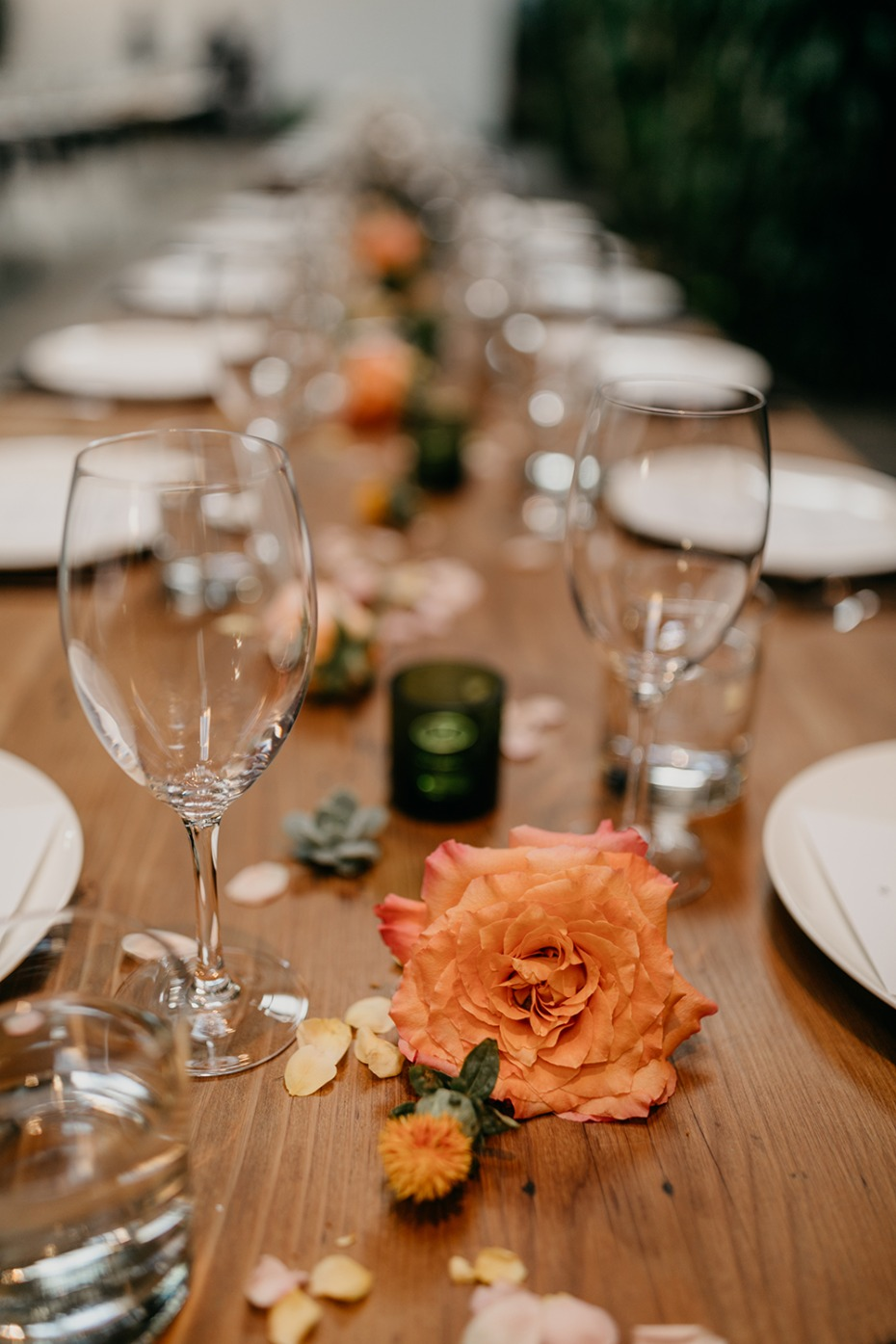 Single rose centerpiece idea