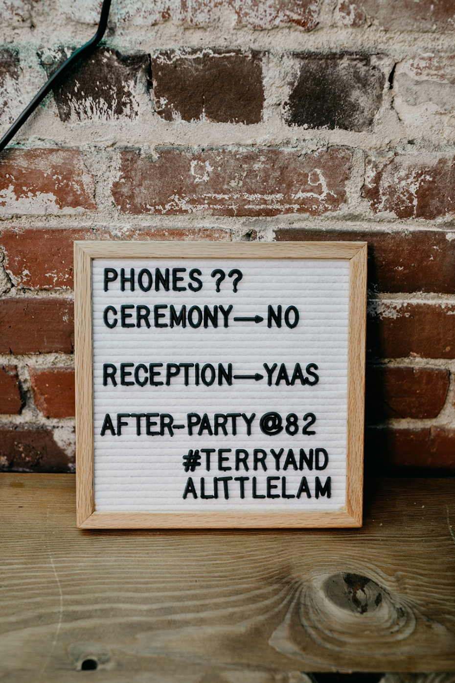 Ceremony sign idea
