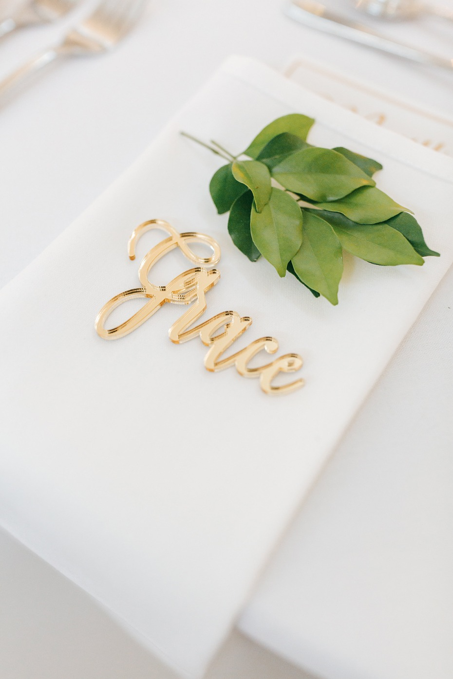 gold place card