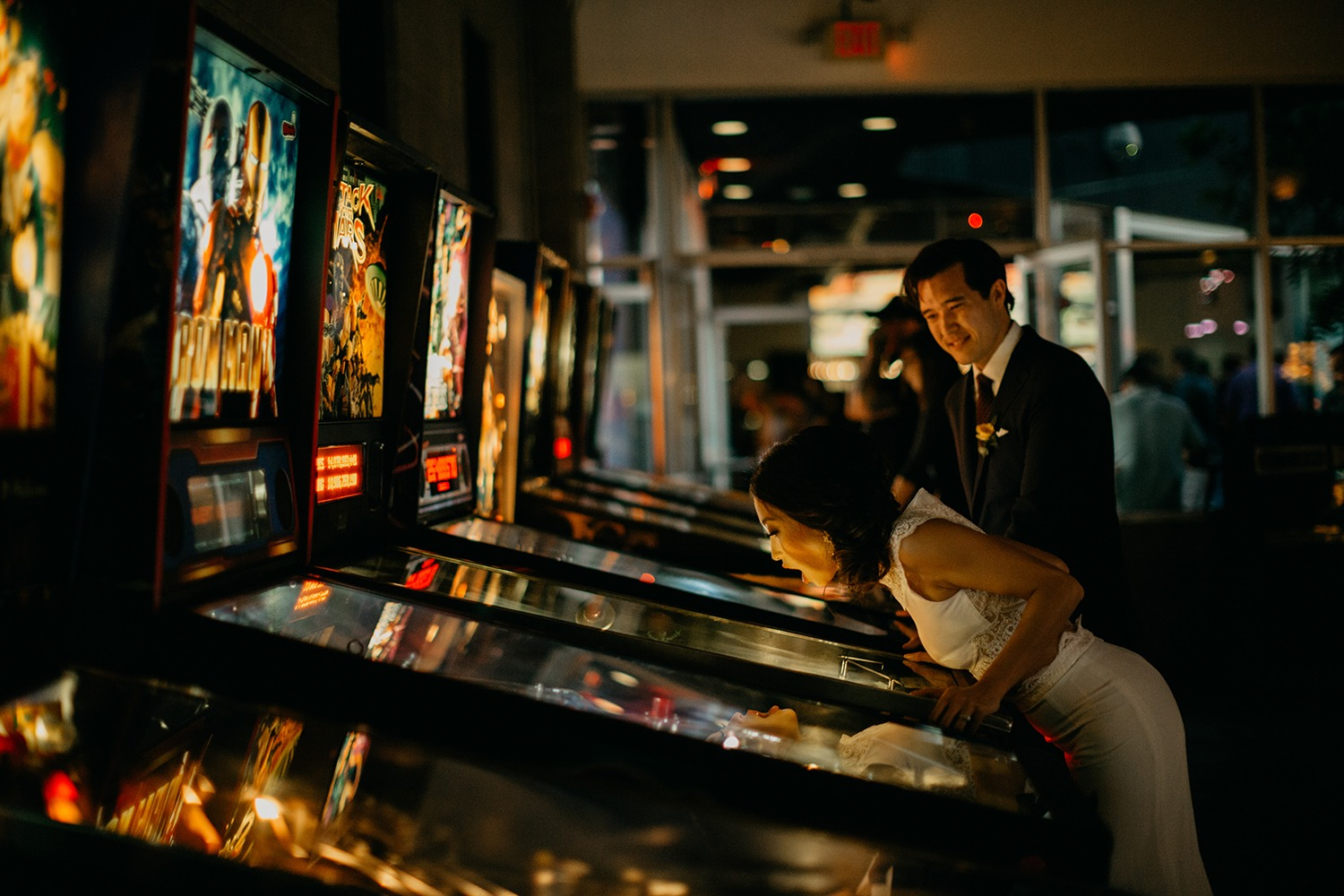 Have an arcade bar at your wedding