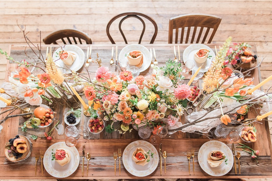 summertime color for your rustic chic wedding day