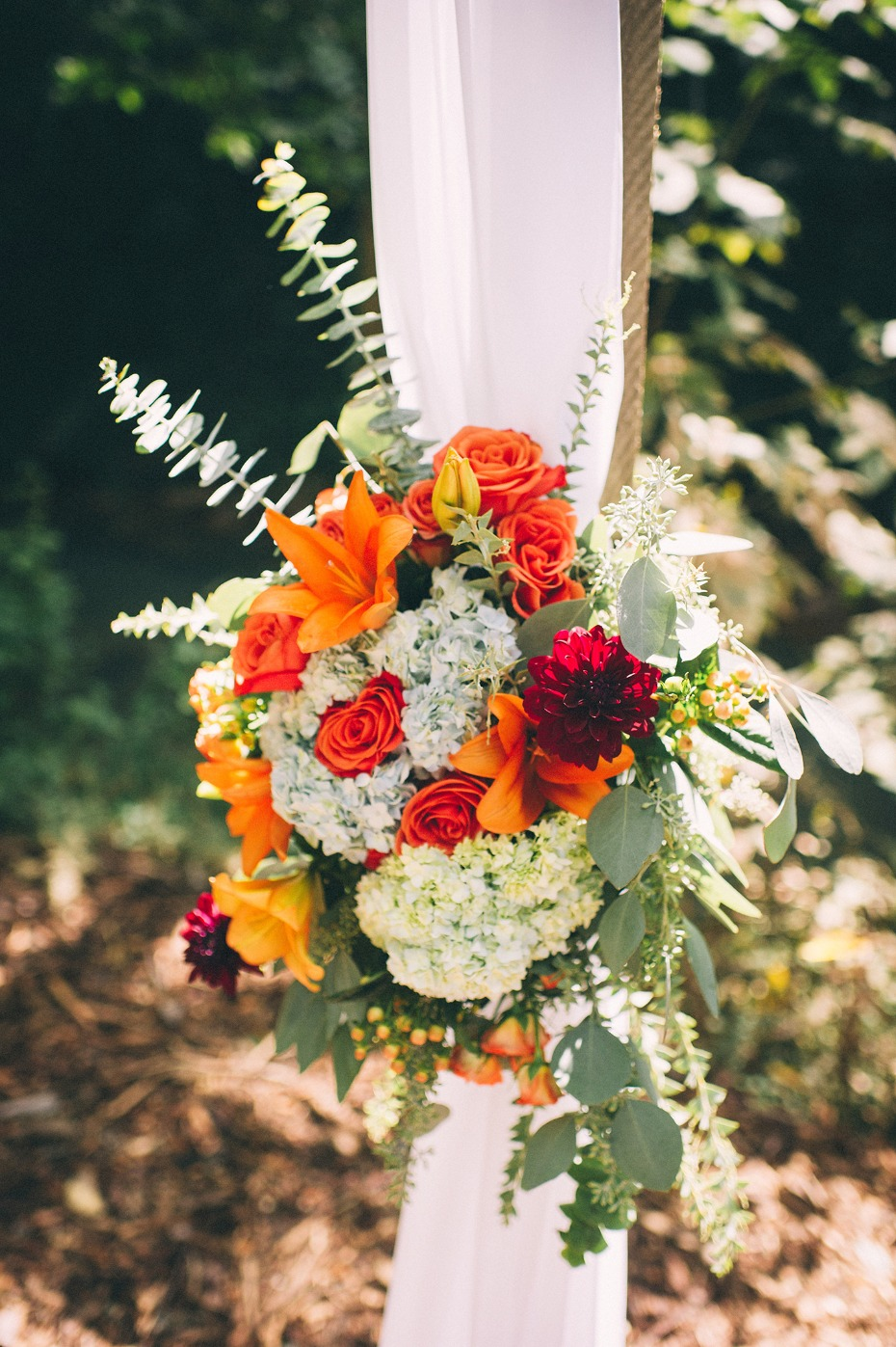 Fall ceremony florals