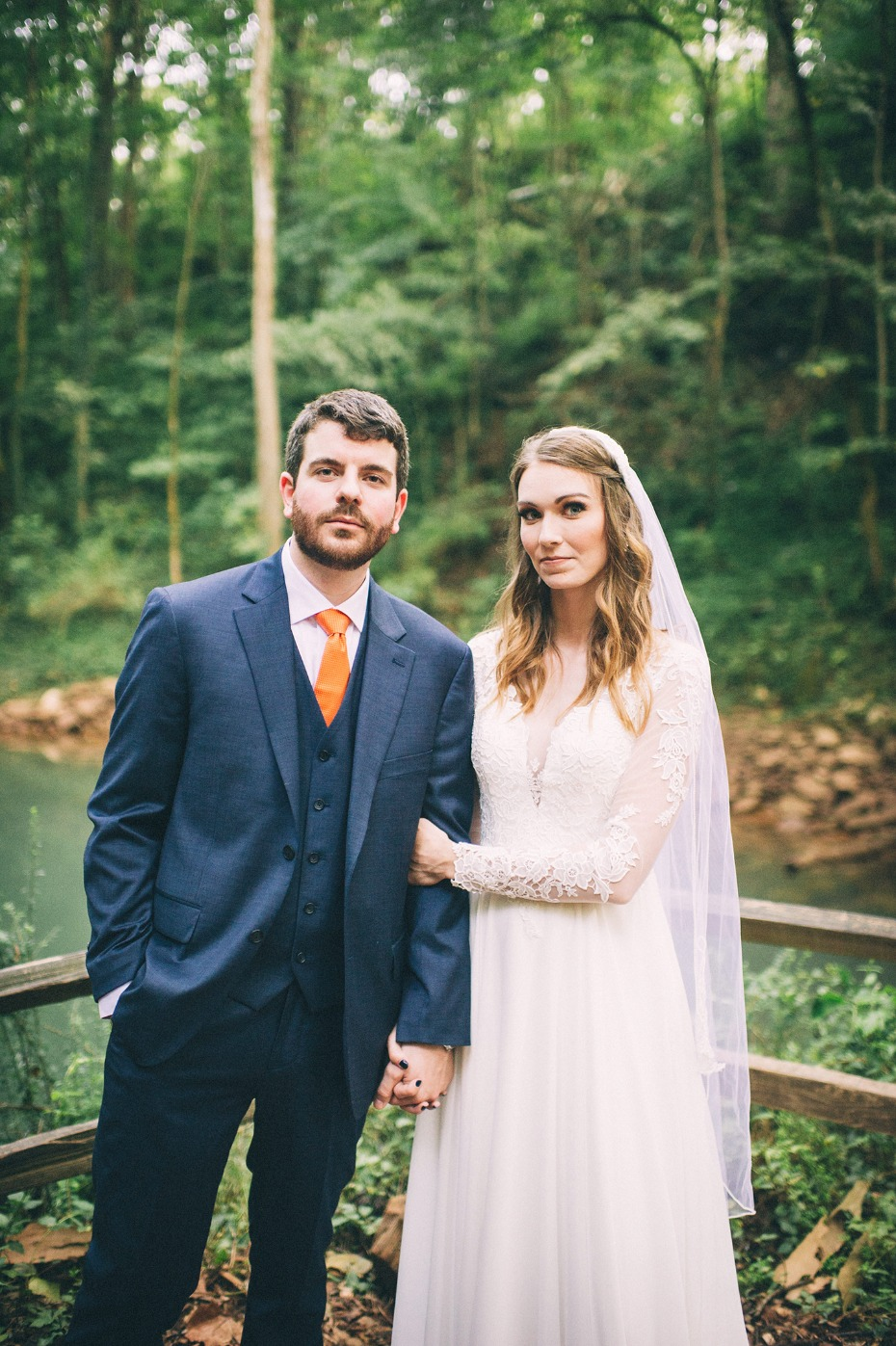 Woodsy outdoor wedding at The Lost River Cave