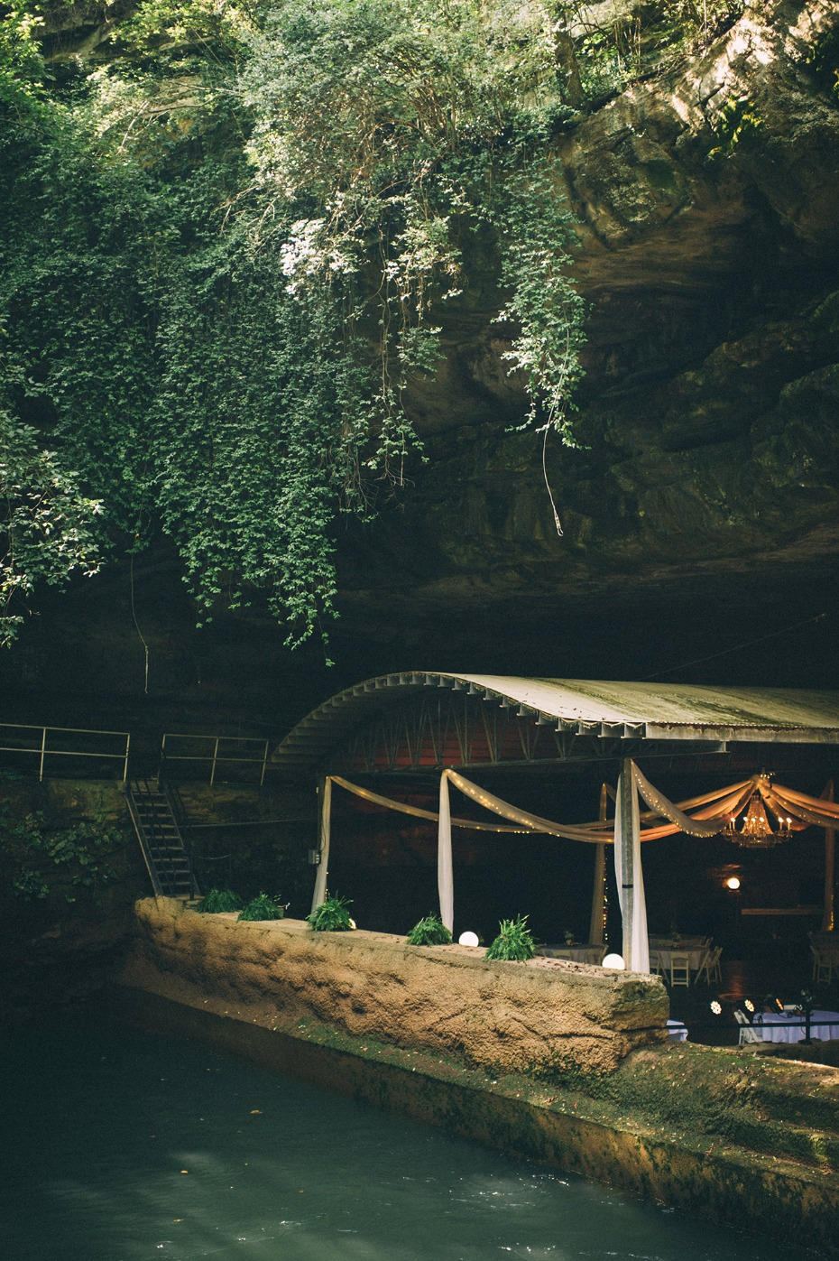 Wedding reception at Lost River Cave