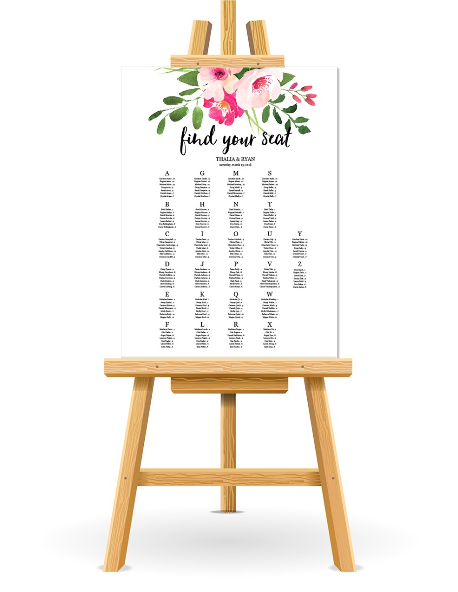 free printable seating chart