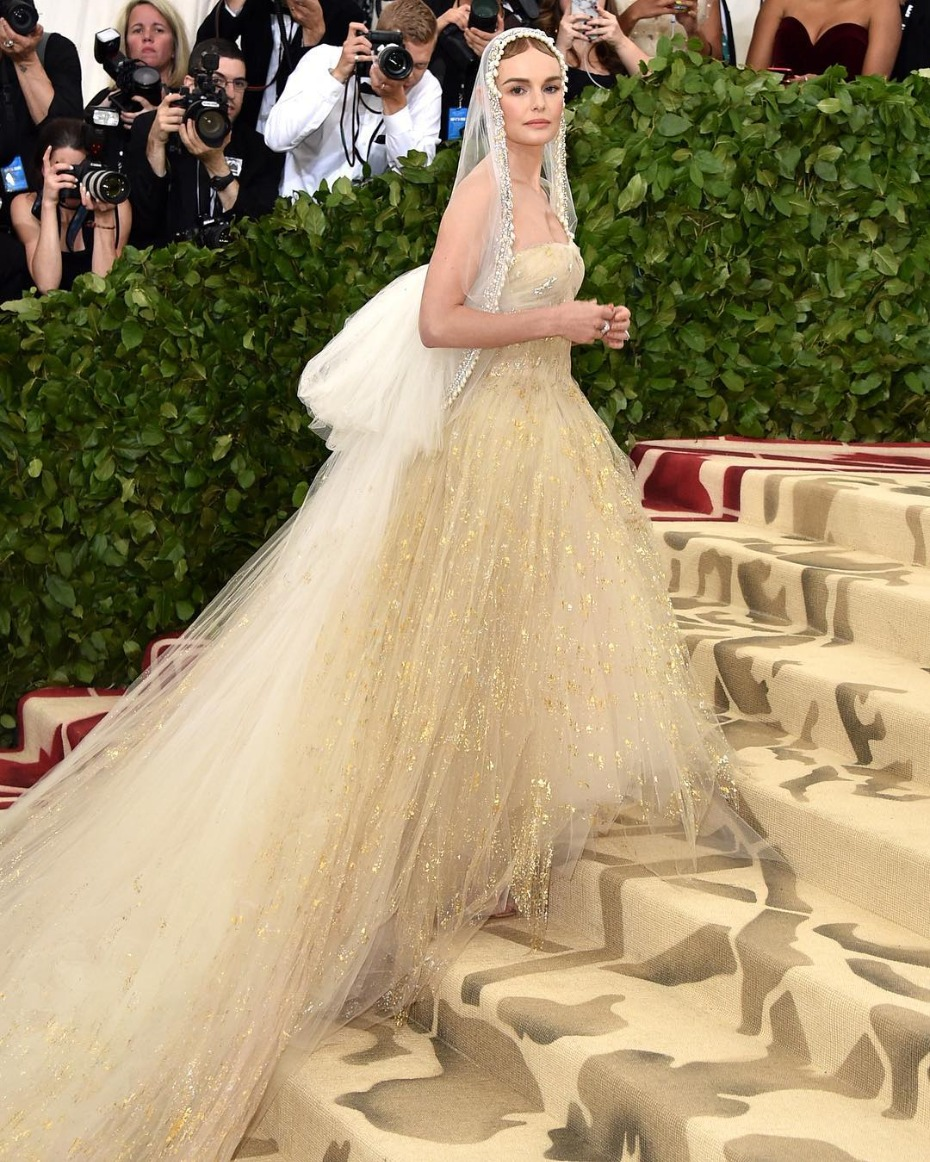 Met Gala Kate Bosworth in Oscar de la Renta
