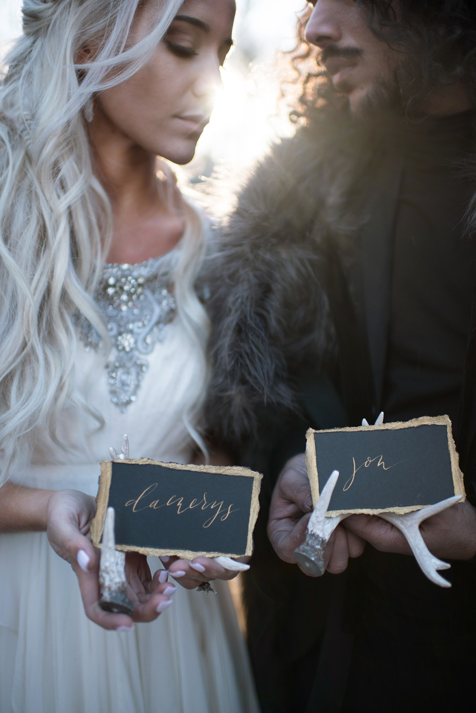 Game of Thrones wedding escort cards