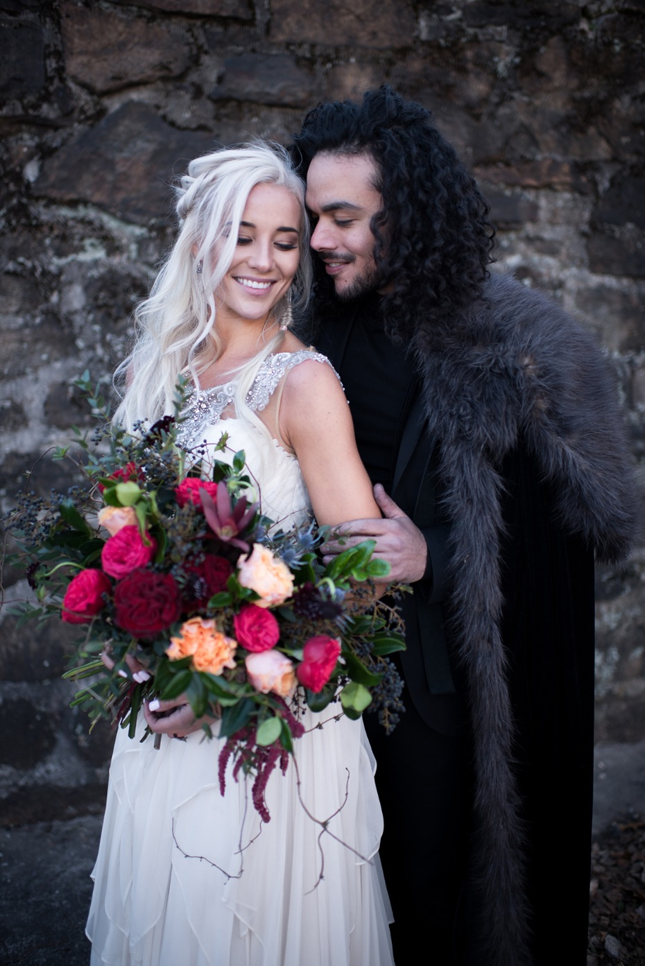 Bride and groom with GOT style