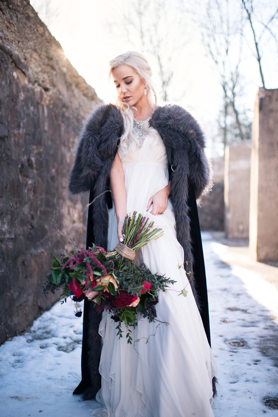 Khaleesi themed bridal look