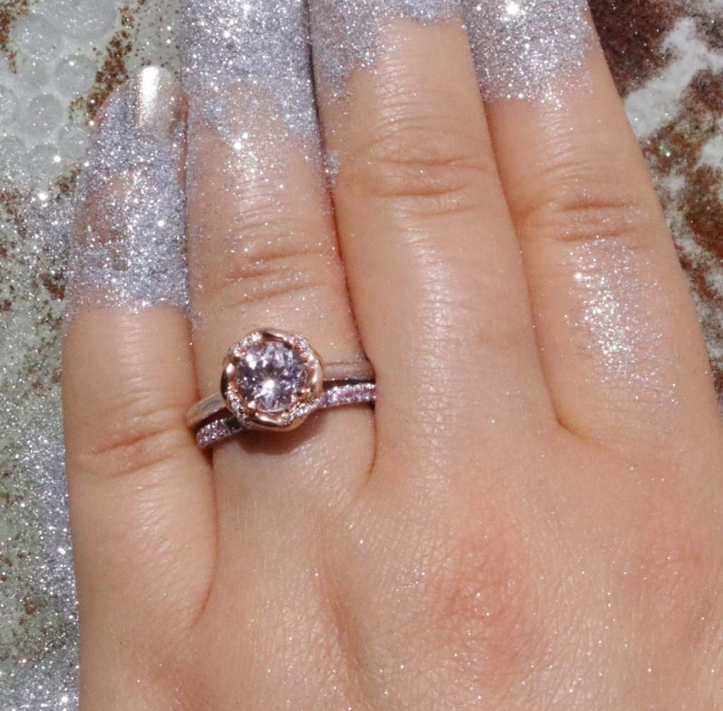 Morganite Engagement Ring. Ready to ship.