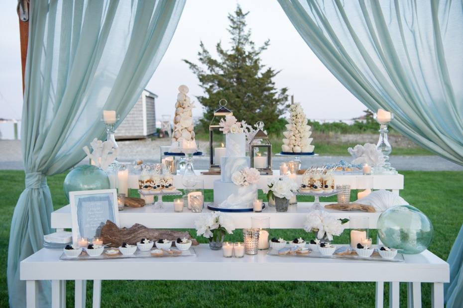 tiered wedding cake table