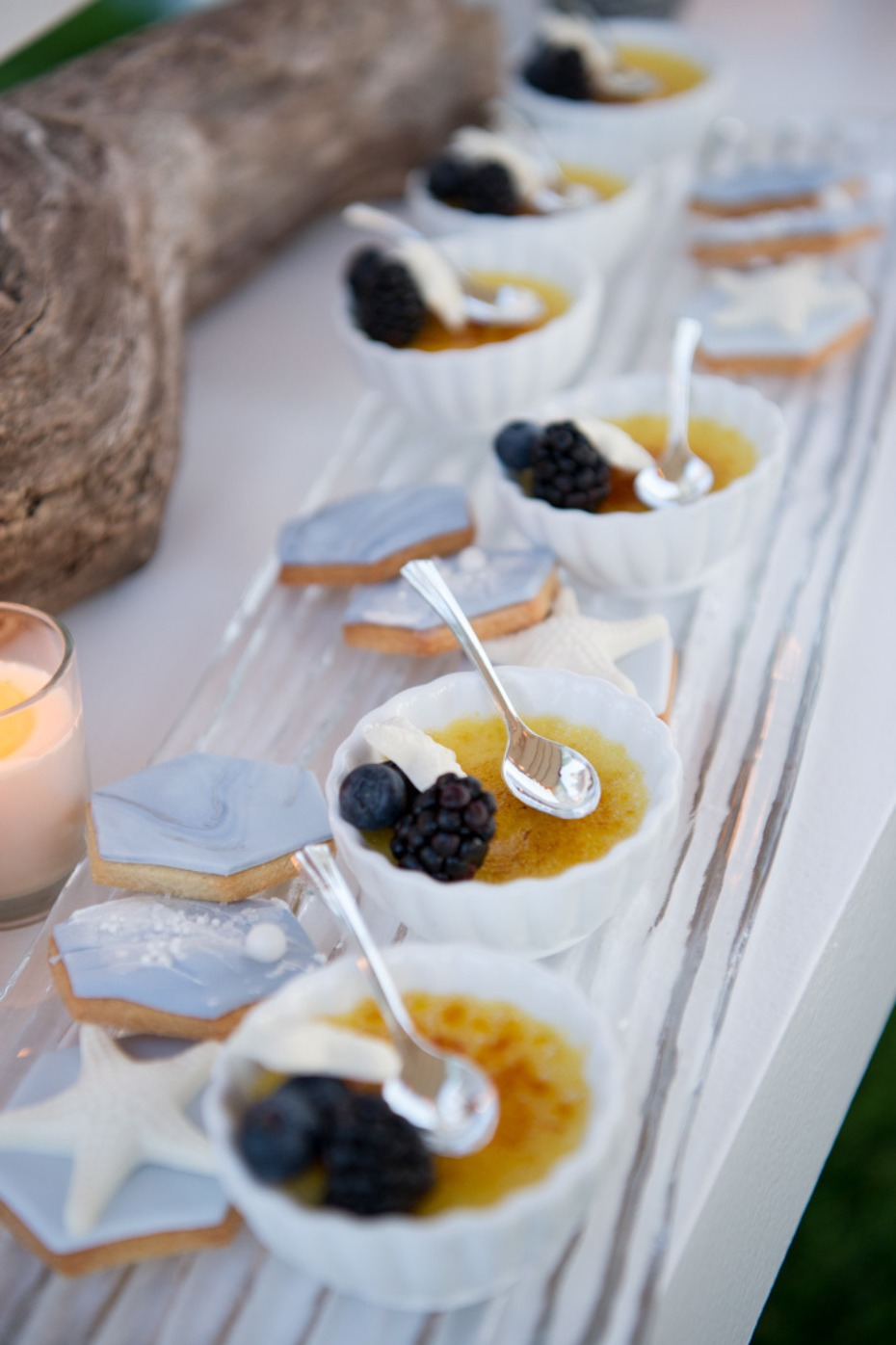 creme brulee wedding dessert bar