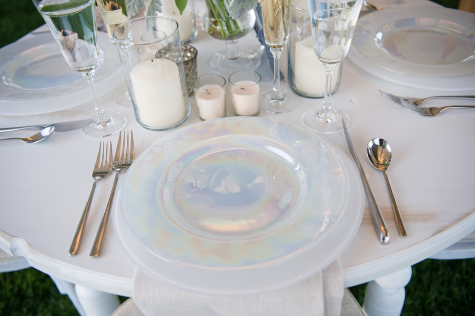mother of pearl wedding dishes