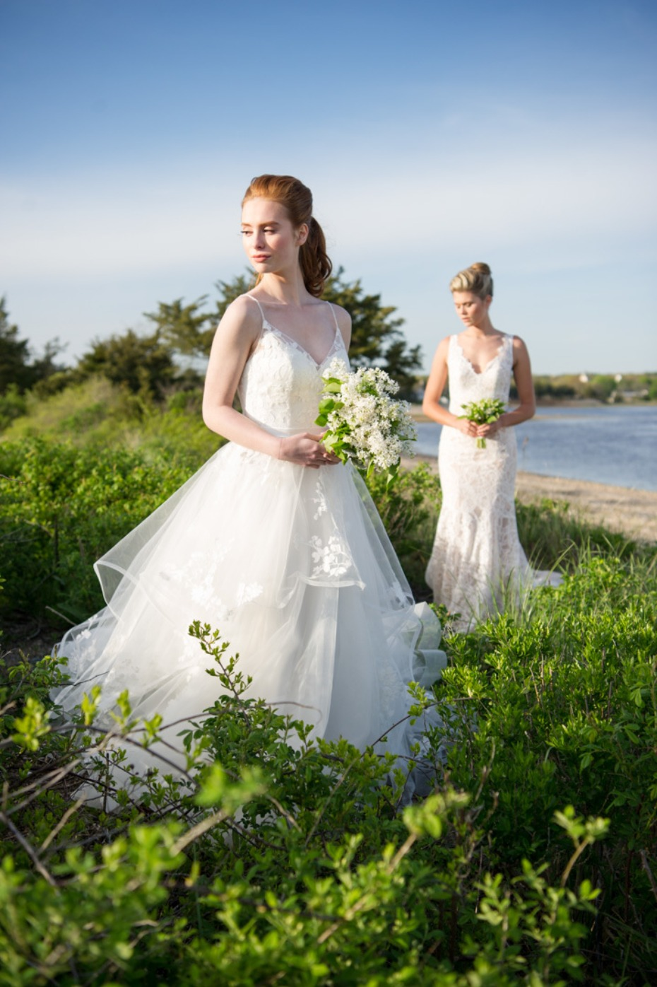 brides at the beach