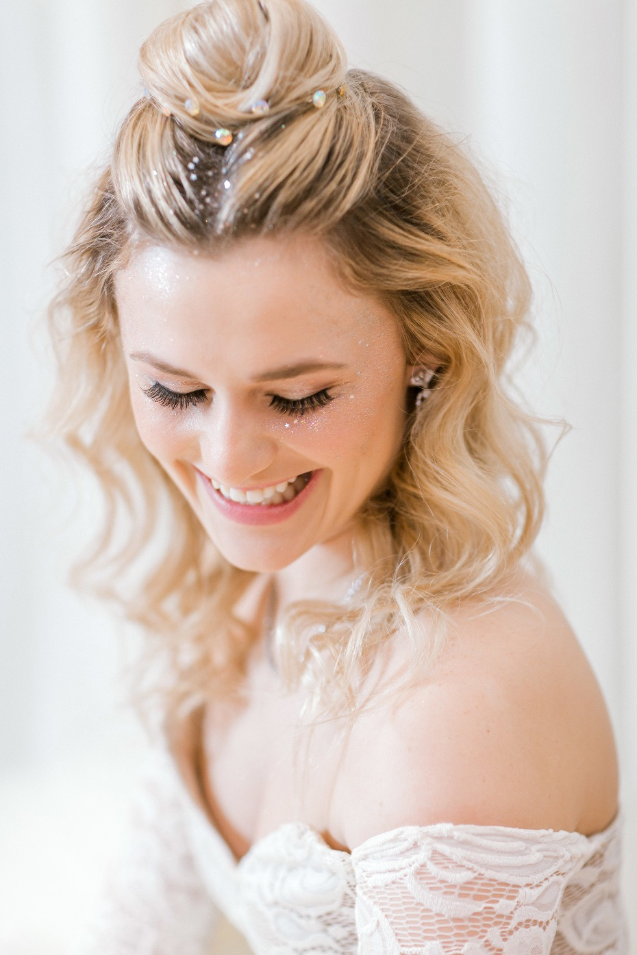Festival inspired bridal makeup and hair