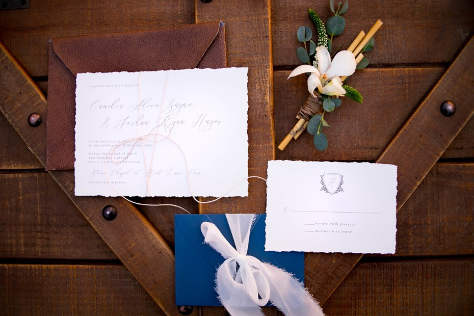 simple and elegant wedding stationery