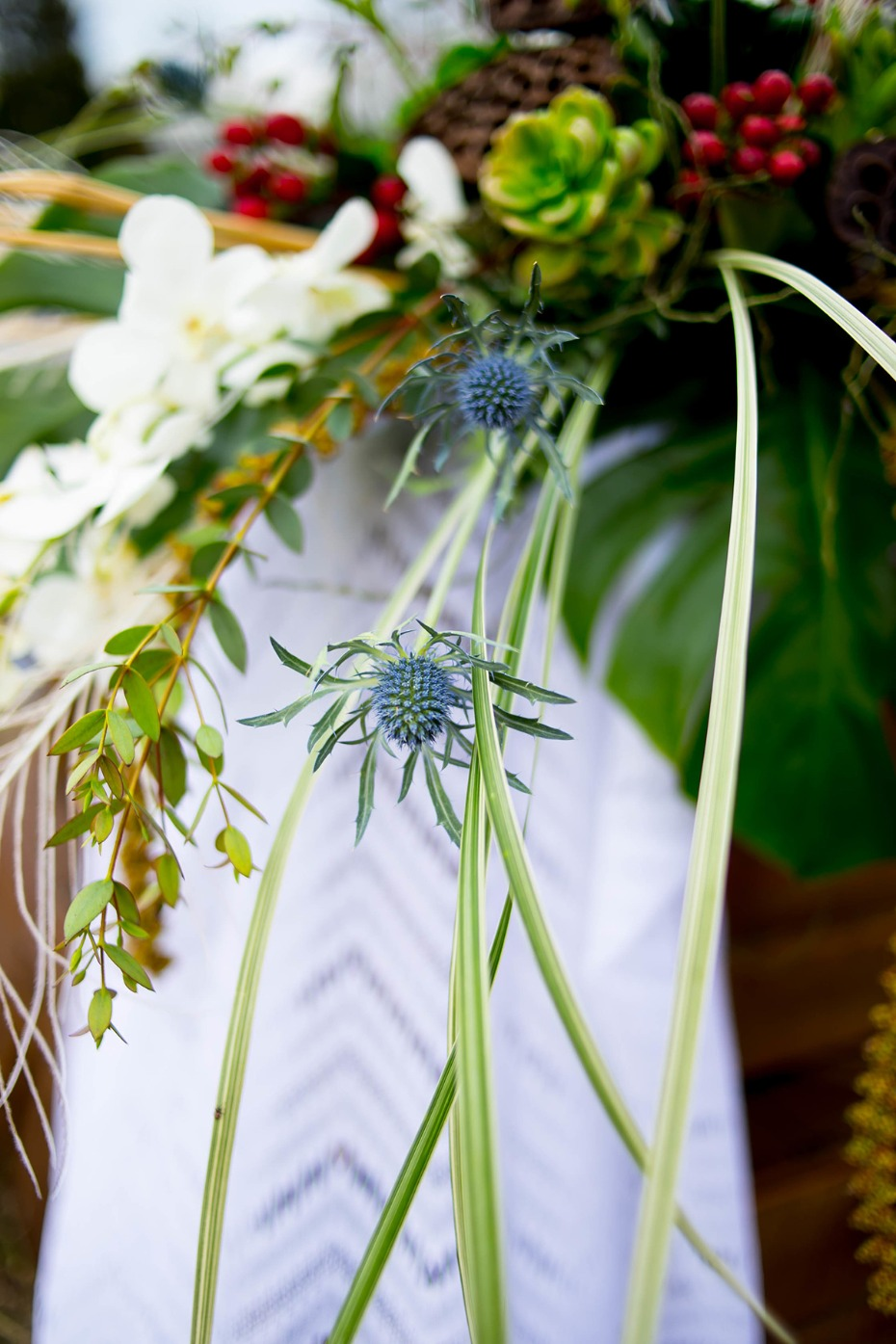 overgrown wedding floral decor