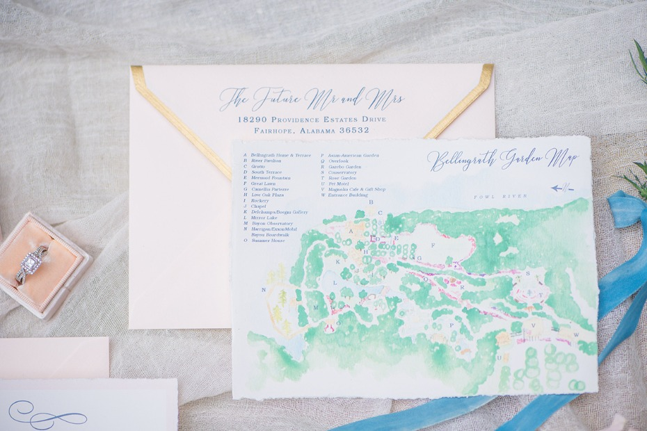 painted wedding map