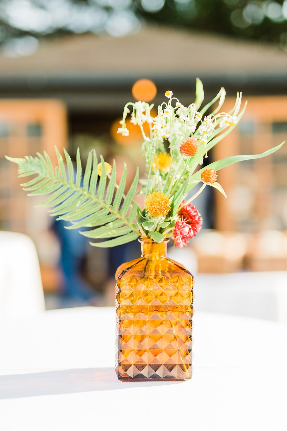 Use vintage bottles as vases