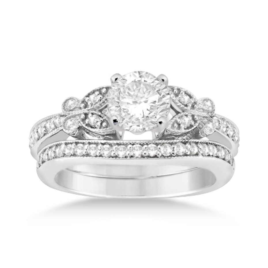 Allurez Butterfly Diamond Engagement Ring