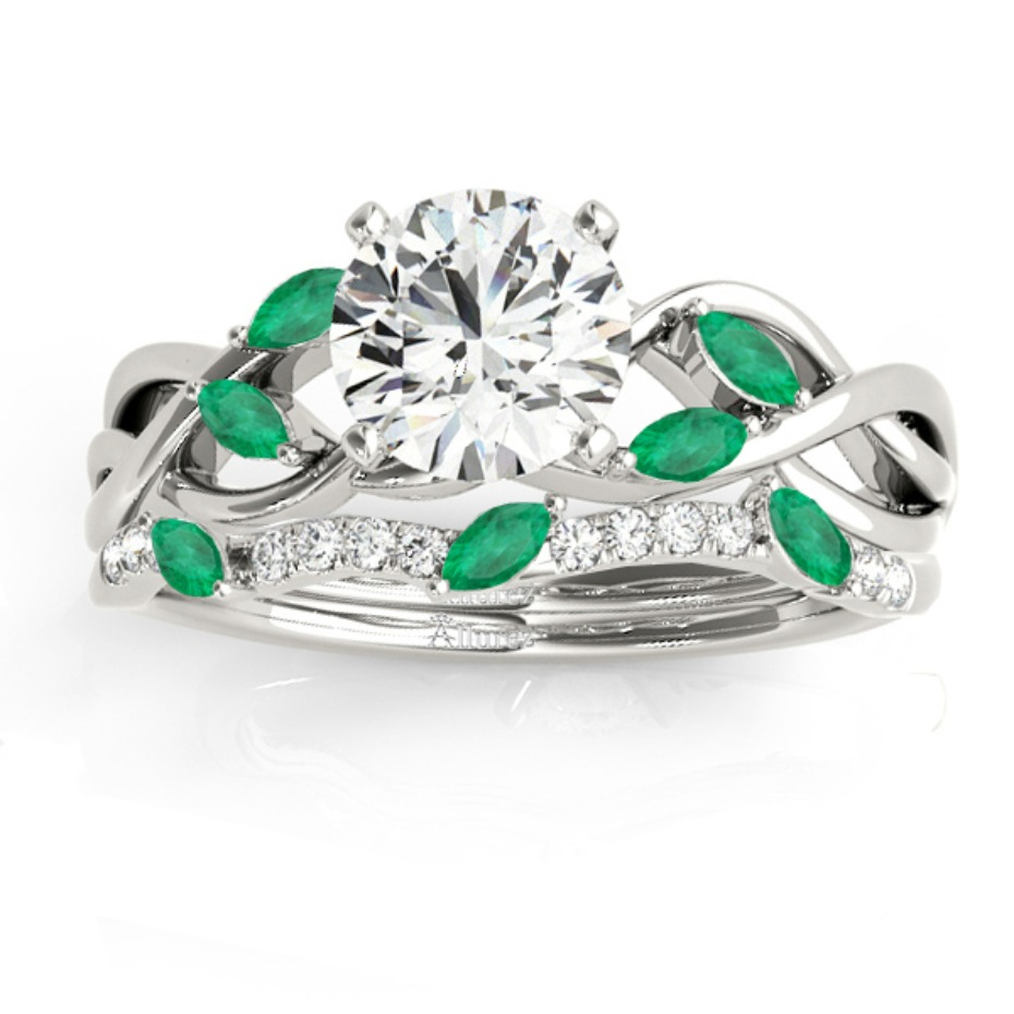 Allurez Emerald Nature Ring