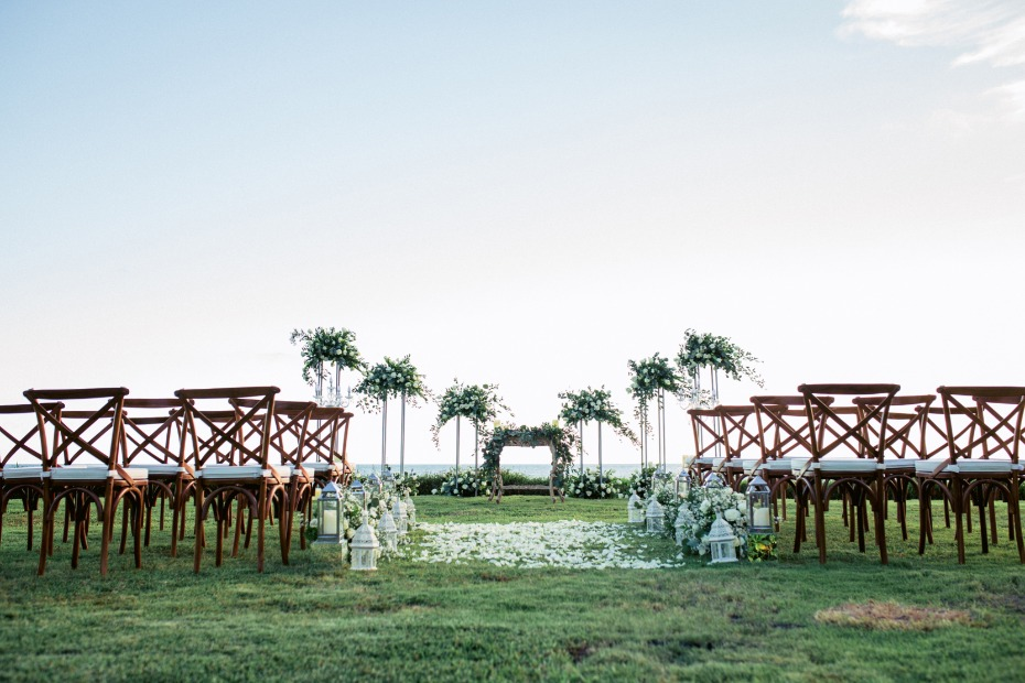 Outdoor ceremony in Bali