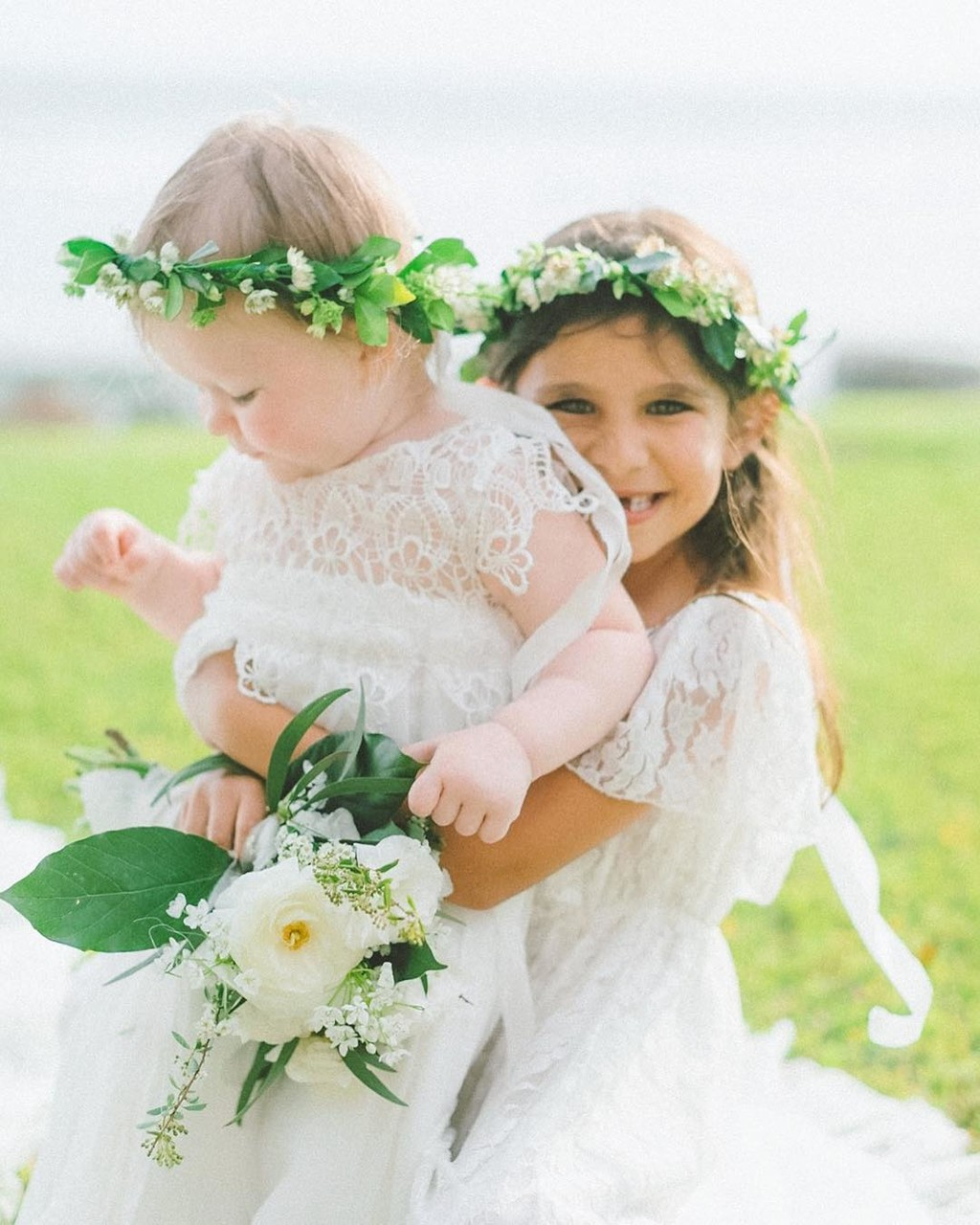 Cuteness overload and I just can't get enough of this day. This flower girls are every little girls Dreams ✨