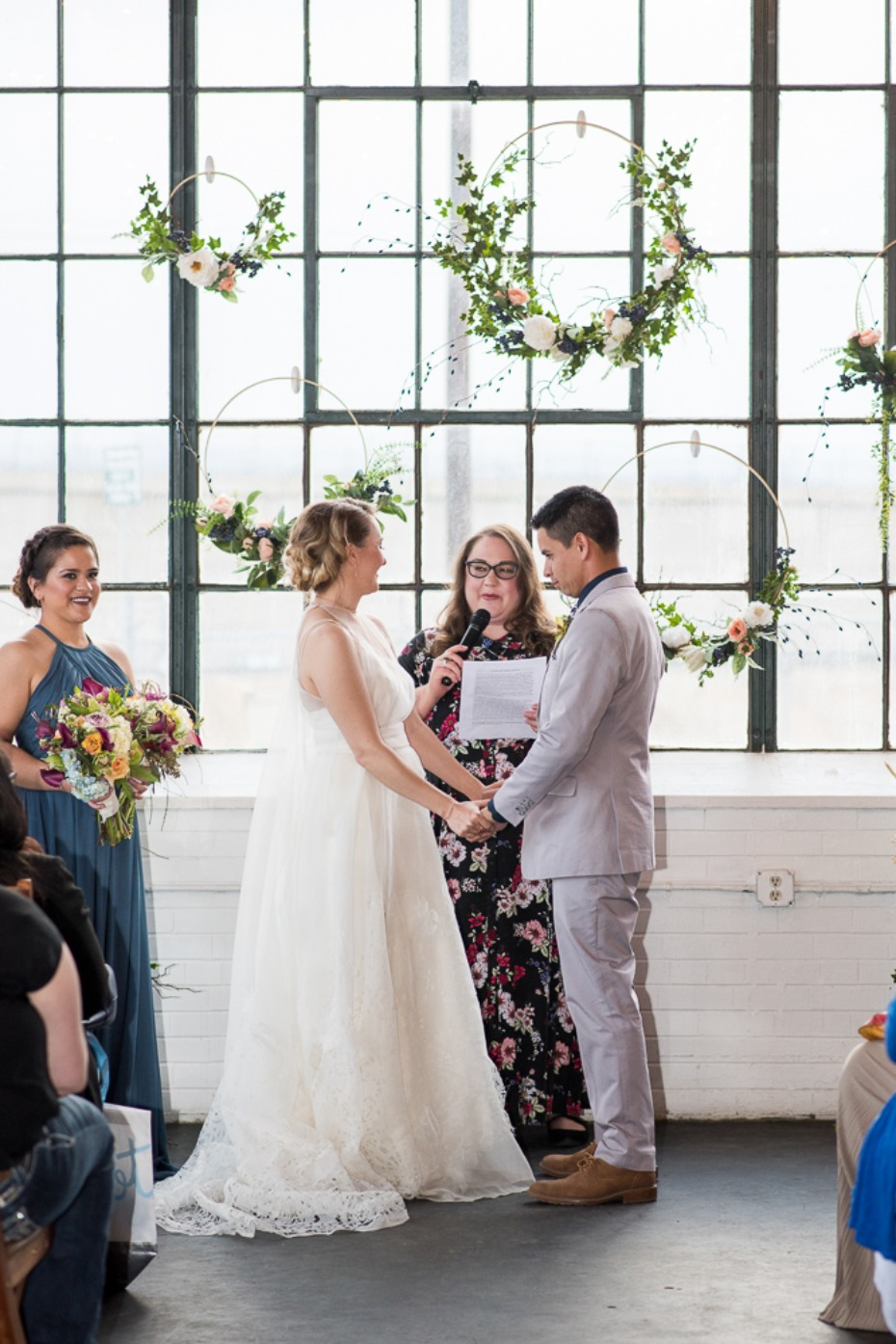 wedding ceremony with a modern vibe