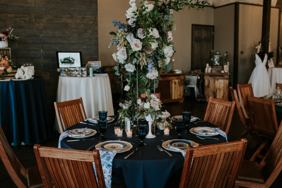 overflowing floral centerpiece