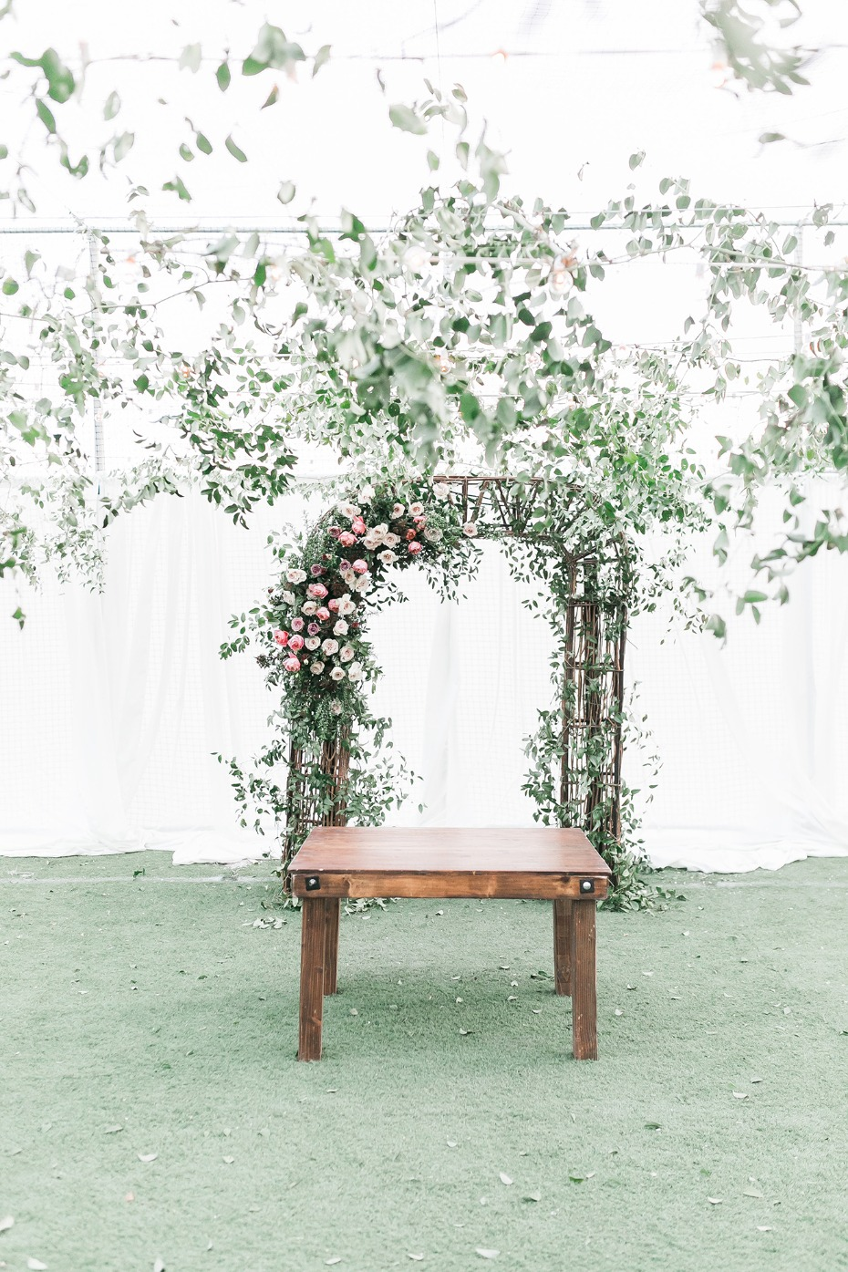 Wicker ceremony arch