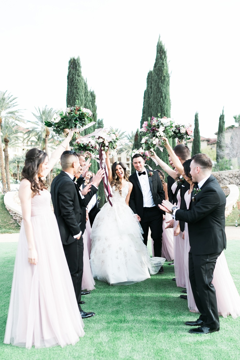 Blush and greenery wedding in Las Vegas