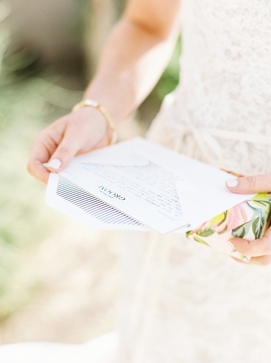 wedding note for the bride from her groom
