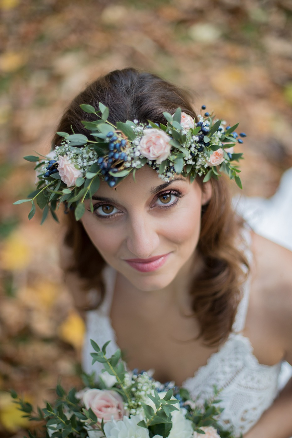flower halo for your boho bridal style