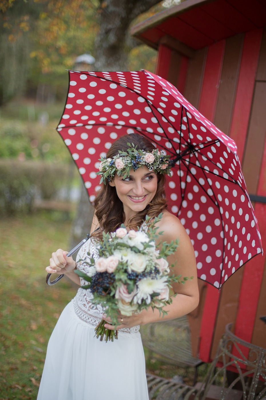 rainy day wedding photo idea