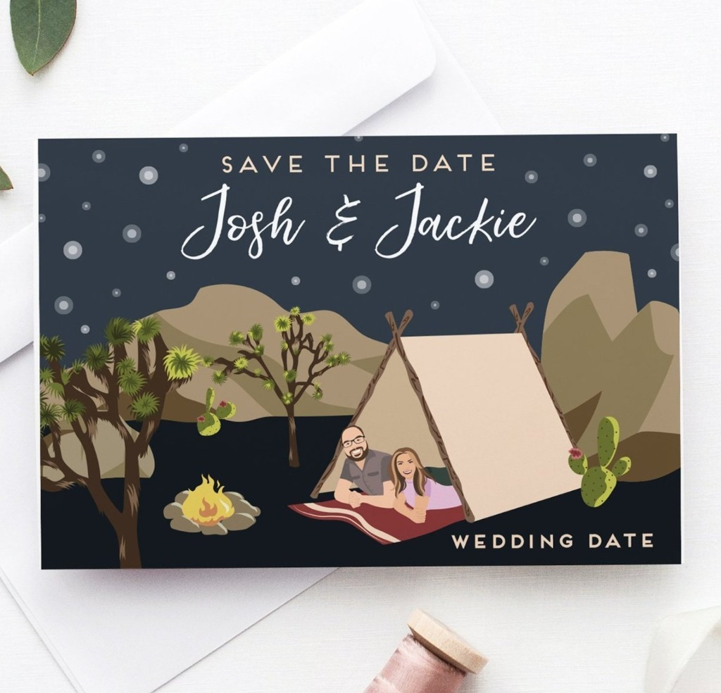 Still looking for Save the Dates for your winter and early 2019 wedding?? Miss Design Berry offers a variety of personalized couple
