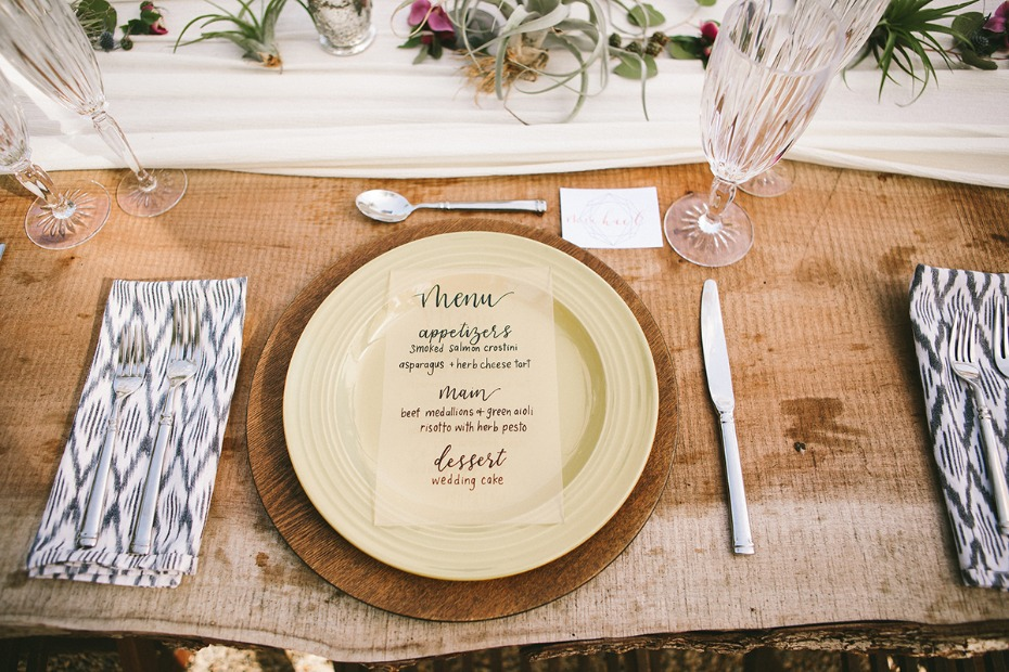 hip modern wedding place setting