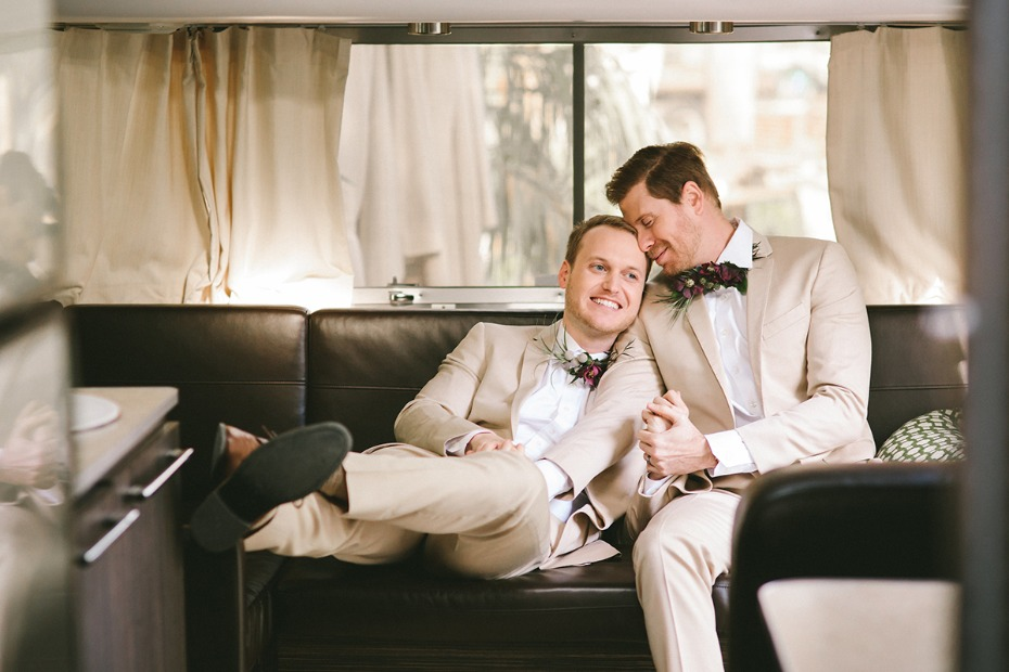 grooms in love