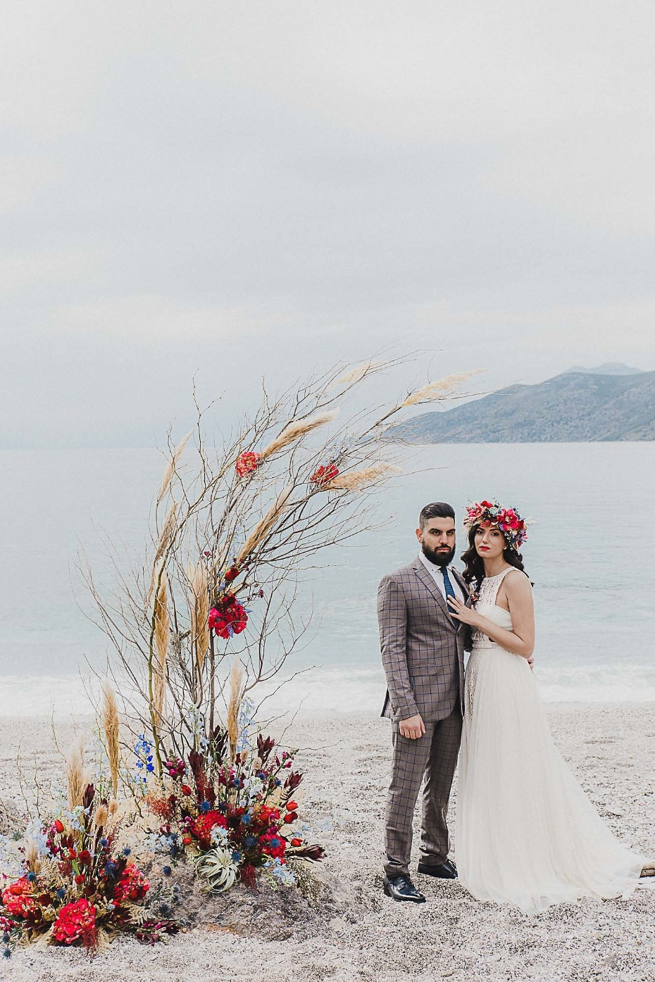 Ancient Greek Castle wedding inspo by the sea
