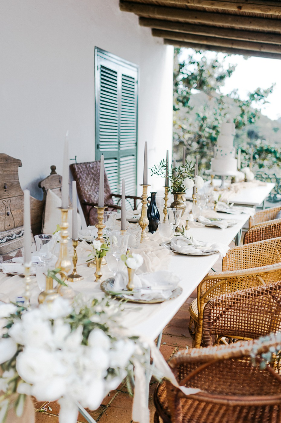 family style mismatched wedding table
