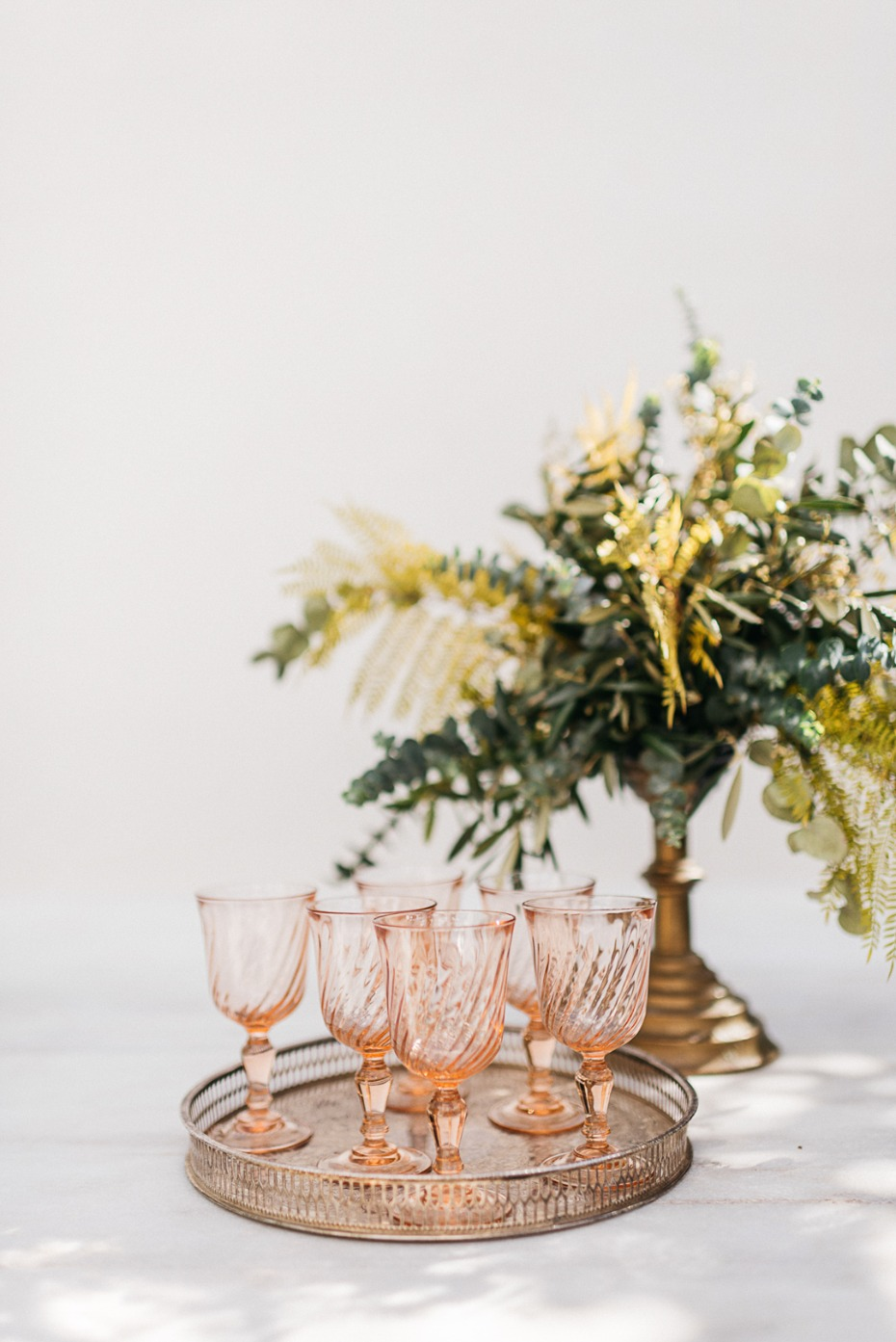 blush glass goblets