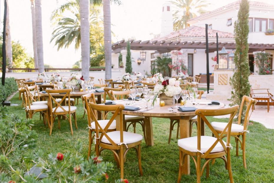 Chic outdoor reception