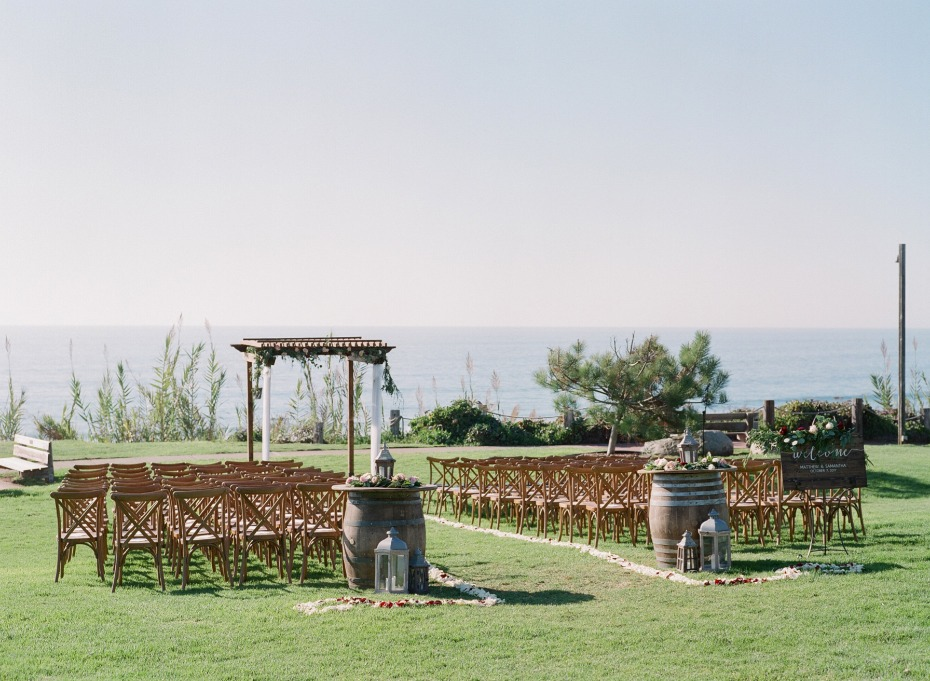 Ocean view ceremony
