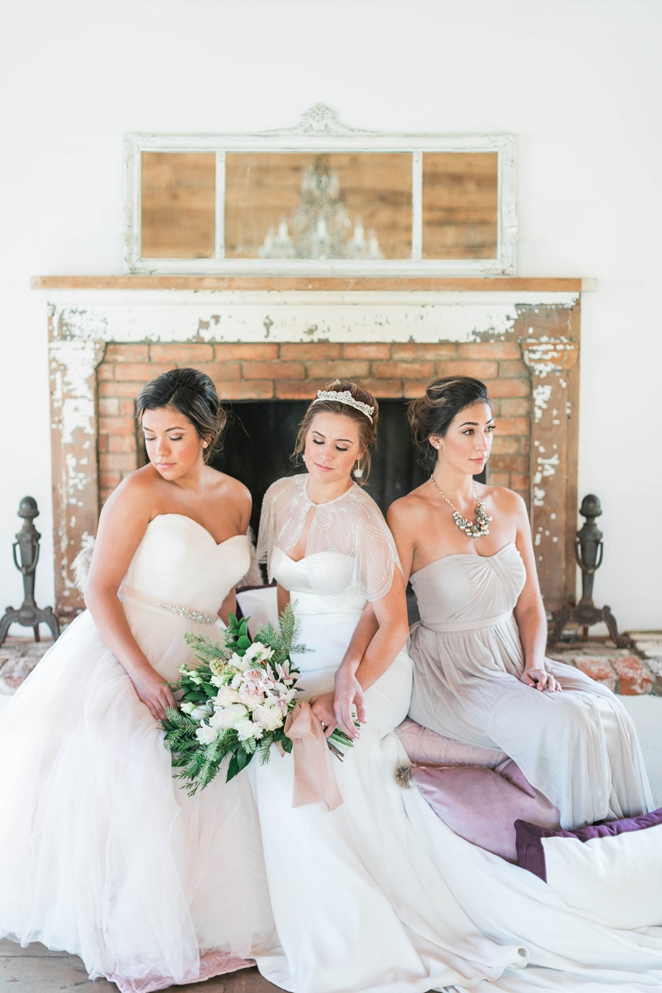 Bridal party for your winter to spring wedding