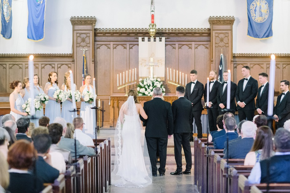 Classic church wedding