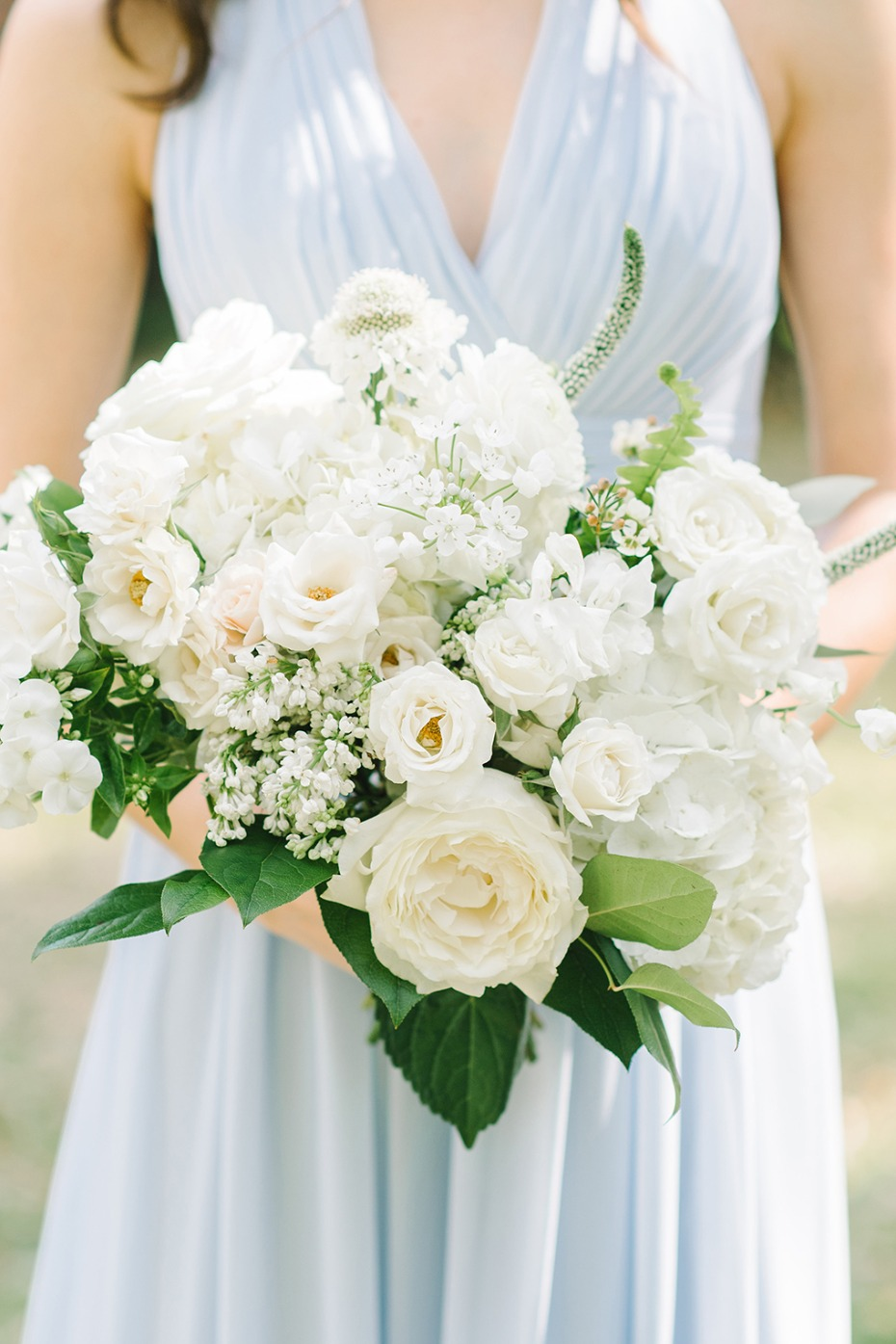 White rose bridesmaid bouquet