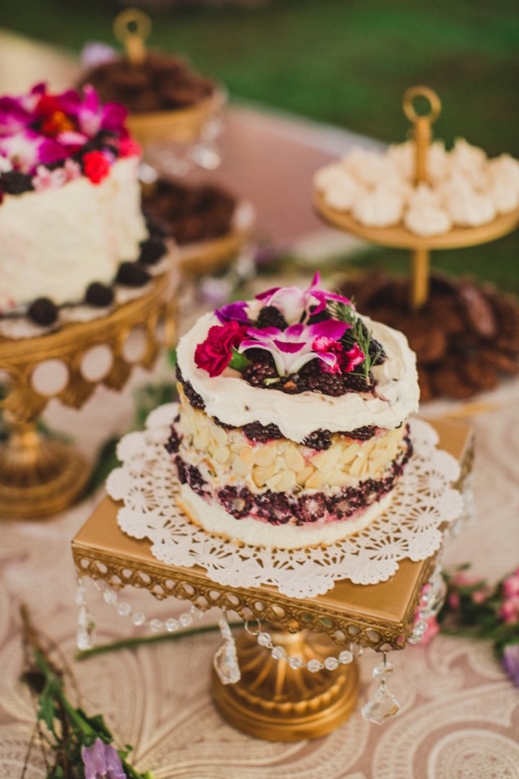 Southern Chic Charm accented with chandeliers... Dessert Stands you'll LOVE!