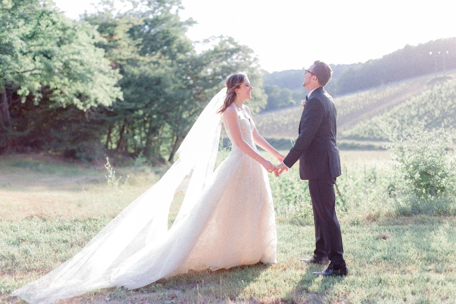 Elegant outdoor wedding in France