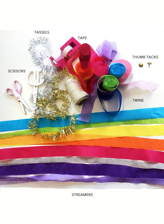 DIY colorful backdrop for New Year's Eve